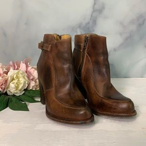 Bed Stu Isla Brown Leather Ankle Bootie Size 6